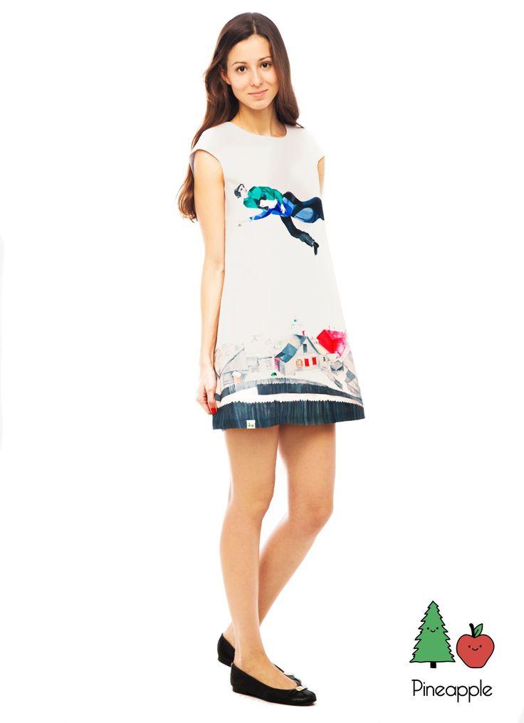 Платье «Над городом», по мотивам картины Марка Шагала — Pineappleshop @ LMBD