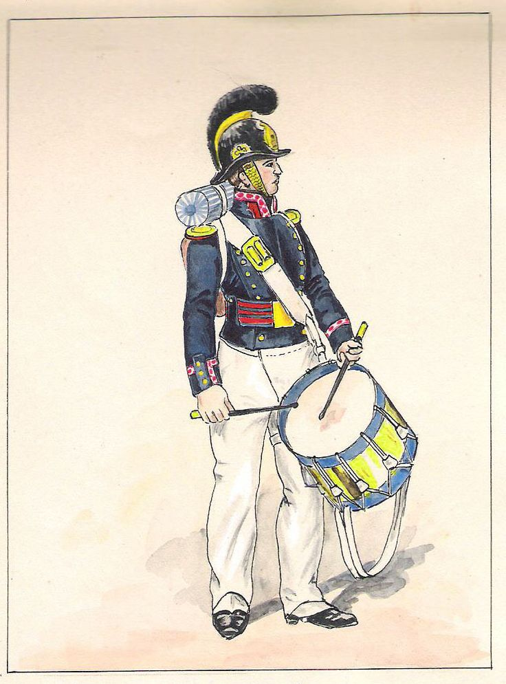 Equipage de ligne Tambour grande tenue (1825-1829)