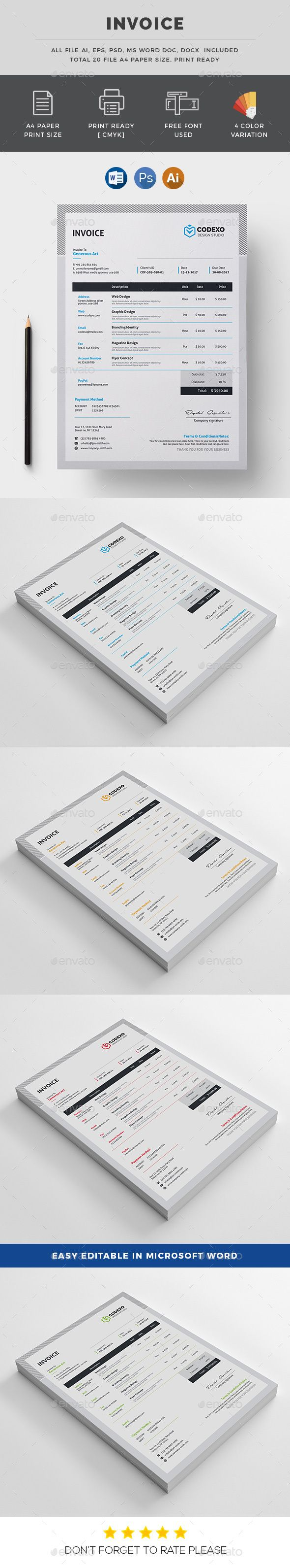 95 best Invoice Templates images on Pinterest | Invoice template ...