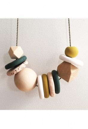 Harvest Ladies Clay Bead Necklace