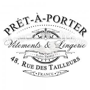 pret-a-porter water decal print transfer for shabby chic projects