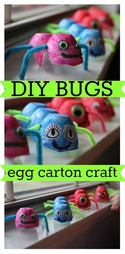 83 best images about bug crafts on pinterest fireflies for Plastic egg carton crafts