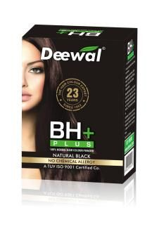 Deewal bh+ chemical free hair colour, shoppping online ppd, allergy free hair colour for natural hair.