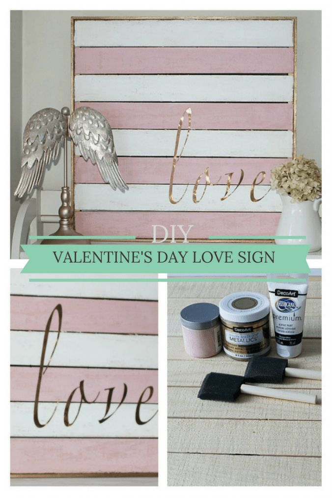 DIY Valentine's Day Love Sign from CentsibleChateau.com #valentinesday #diysign