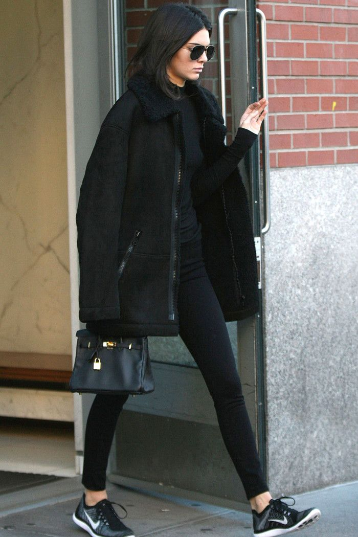 The Week's Best Dressed | Style | Grazia Daily - Kendall Jenner in all black with Nike sneakers