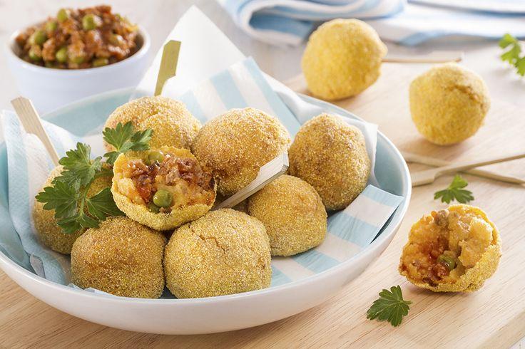 Arancini di polenta con ragù e piselli | Polenta Valsugana