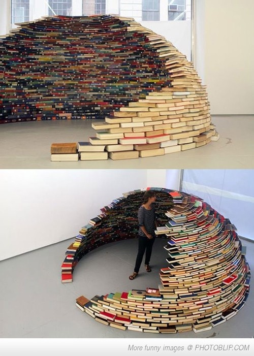 Igloo book yourself in, read your way out. Challenge Accepted!