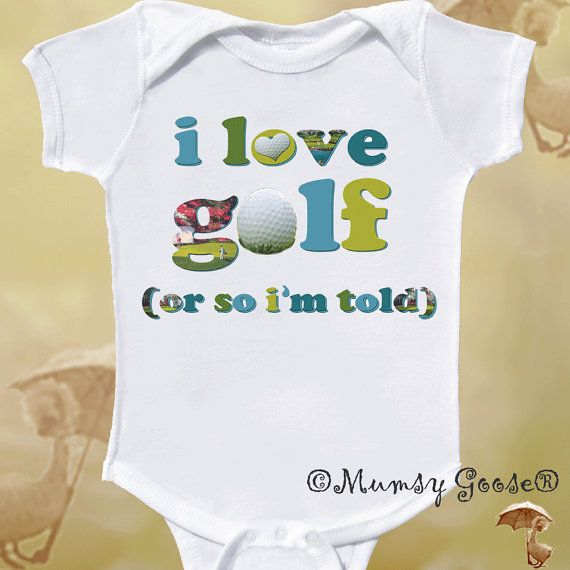 Funny Onsie Golf Baby Onesie Newborn Rompers to Kids Tees Golf Onesies on Etsy, $14.95