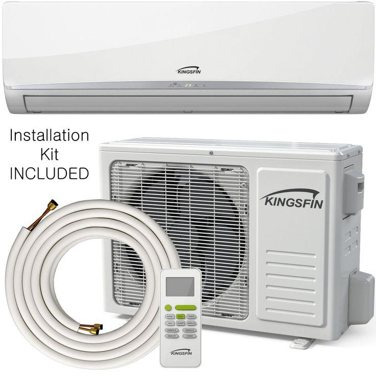 KINGSFIN 12000BTU Mini Split Ductless AC Air Conditioner And Heat Pump 12000 BTU 230V