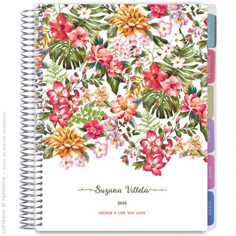 Daily planner floral vintage rose - Agenda.