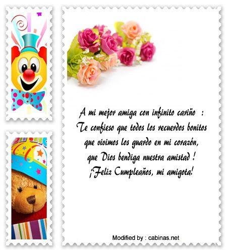 originales saludos de cumpleaños  para compartir,descargar tarjetas bonitas con frases para enviar por cumpleaños gratis : http://www.cabinas.net/mensajes_de_texto/mensajes-de-cumpleanos-a-amigas.asp