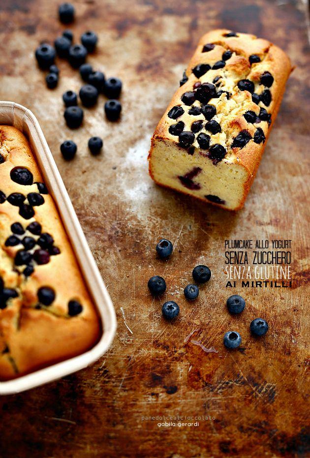 Plumcake allo yogurt senza glutine senza zucchero ai mirtilli - Glutine Free | PANEDOLCEALCIOCCOLATO