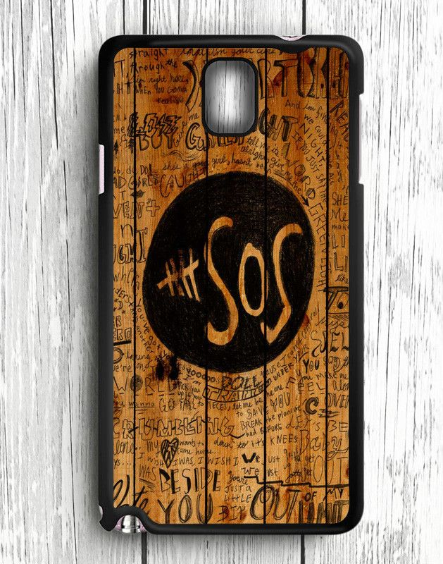 5 Second Of Summer Fans Quotes On Wood Samsung Galaxy Note 3 | Samsung Note 3 Case