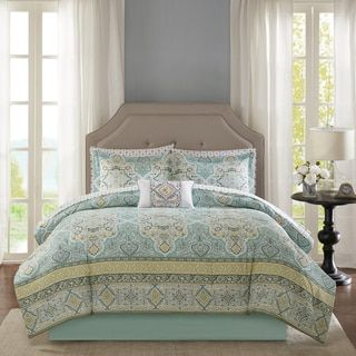Shop for Madison Park Essentials Caitlin Aqua Complete Comforter and Sheet Set. Get free shipping at Overstock.com - Your Online Fashion Bedding Outlet Store! Get 5% in rewards with Club O!