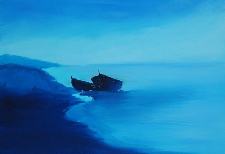 Barche a riposo nel blu della sera...