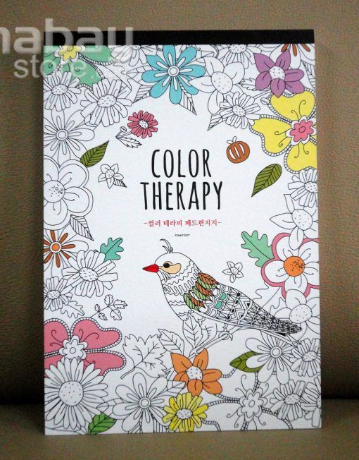 Buku Tulis Bergambar / Notebook Fancy - Color Therapy dr Korea