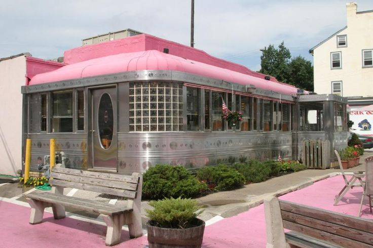 Love the pink pavement  roof!