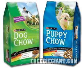 Free Purina Dog Chow Dog Food BOGO Printable Coupon - http://freebiegiant.com/free-purina-dog-chow-dog-food-bogo-printable-coupon/ Right now, you can get a coupon which is good for one free Purina Dog Chow 4.4 pound bag, and all you have to do is buy one bag of equal price.  If you would like to get this Buy One Get One Free (BOGO) coupon for Purina Dog Chow Dog pr Puppy Food, simply click here to print right from your...