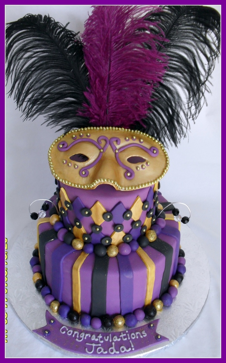 : Cake With A Masks, Gras Cake, Masks Cake, Grooms Cake, Cake Ideas, Mardi Gras, Mardigras, Bridal Showers, Bridal Shower Cakes