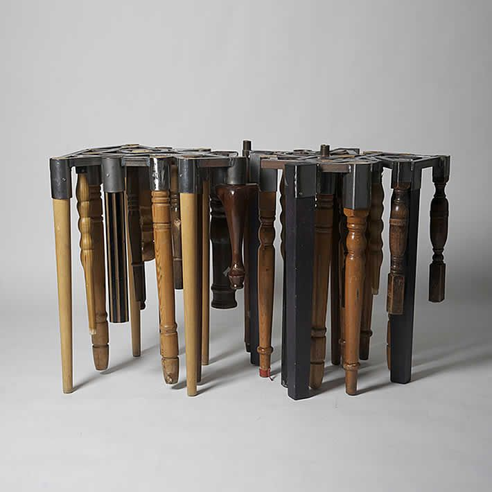 46: Discarded Furniture Legs Turned Into Table By Niloufar Afnan