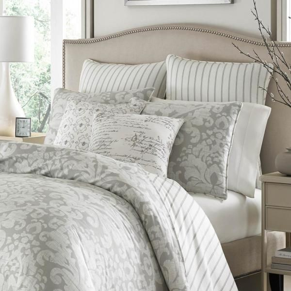 Stone Cottage Camden 3 Piece Gray Floral Cotton King Comforter Set 223969 The Home Depot In 2021 Master Bedroom Comforter Sets Bedroom Comforter Sets Bedding Sets Master Bedroom King size cotton comforter sets