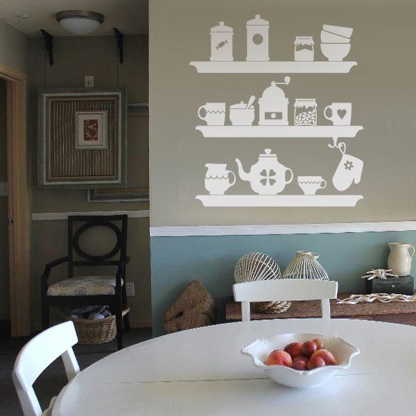 10-601 naklejka ścienna szablon malarski 'kuchnia' :: naklejkidekoracyjne.net