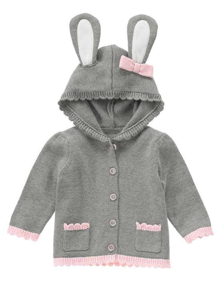 Bunny Hooded Cardigan at Gymboree (Gymboree 0-24m)