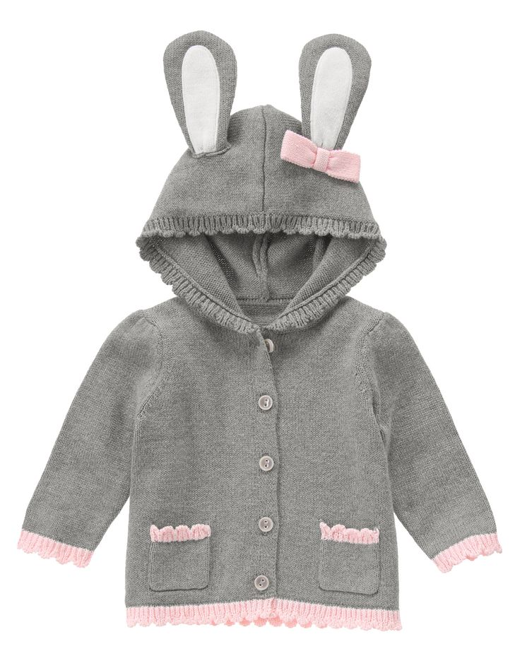 Bunny Hooded Cardigan at Gymboree (Gymboree 0-24m)