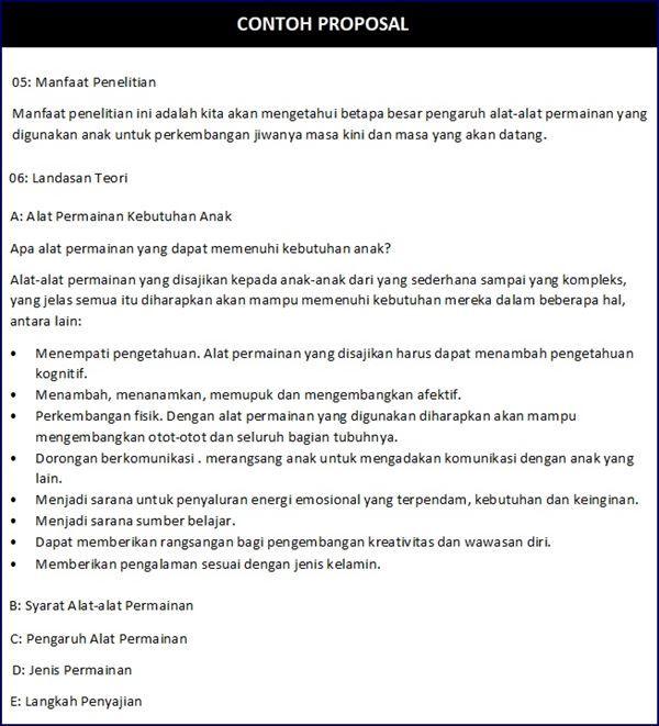 7 Contoh Proposal Penelitian Kegiatan Dan Usaha Bisnis Proposal Penelitian Pengetahuan