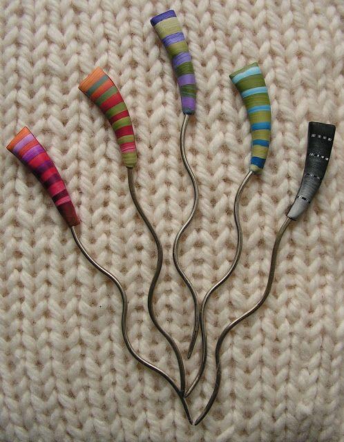 shawl pins from Bonnie Bishoff