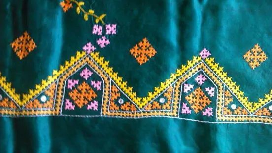 Indian Kutch work embroidery