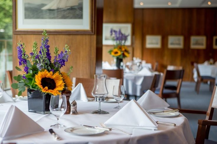 A view of the Coffee Room at the Royal Thames Yacht Club