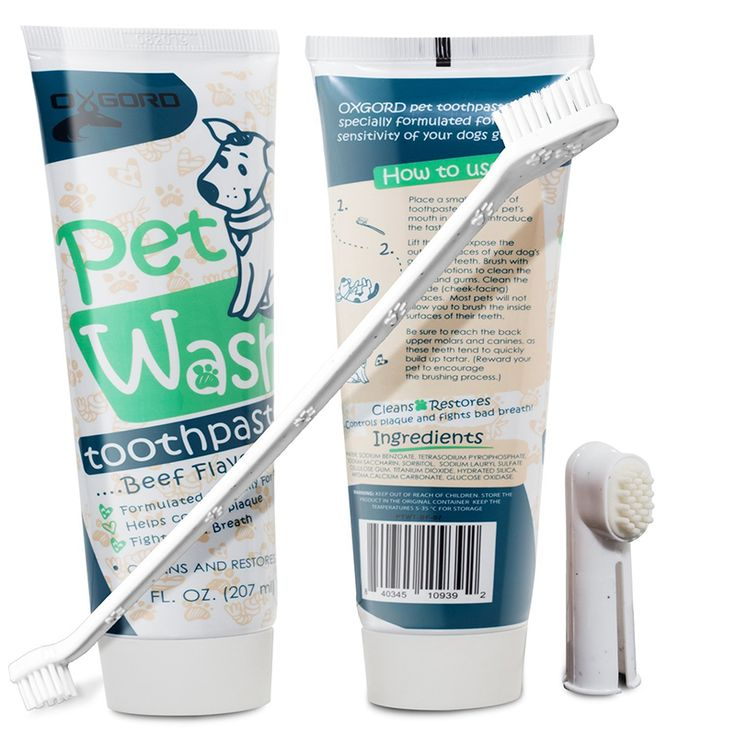 2Pack Dog BeefFlavor Toothpaste and Brush Kit (With
