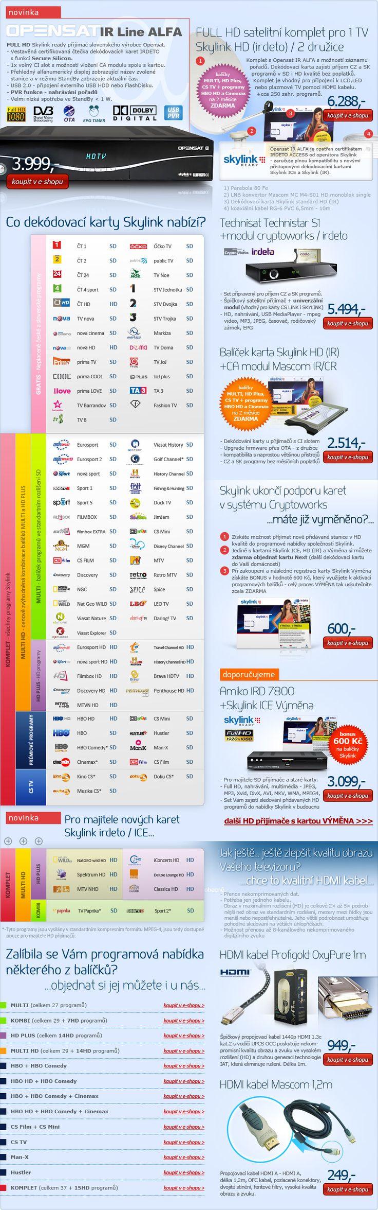 Newsletter - Skylink READY přijímače + příslušenství