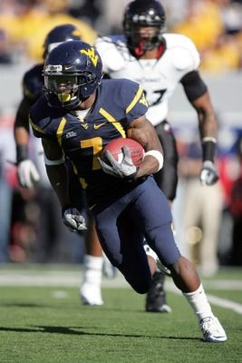"Noel Devine, 5'8"" 180 lbs., carried the ball 728 times and gained 4,315 yards for an average carry of 5.9 for his WVU career. He also scored 31 TDs."