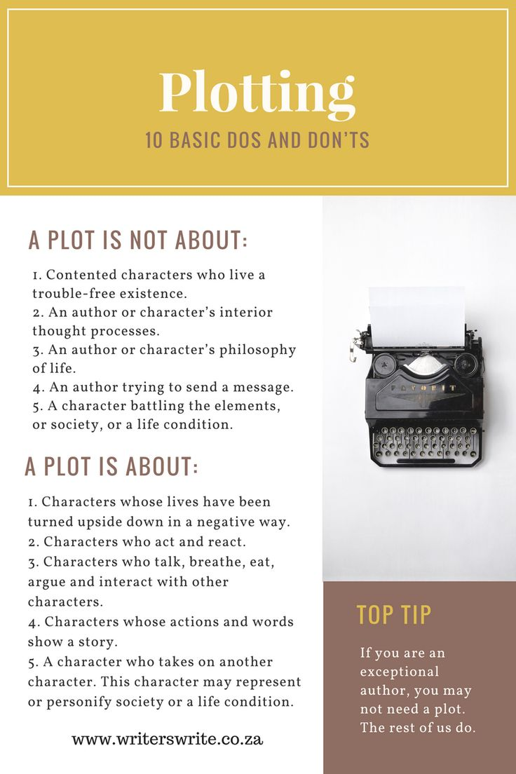 10 Basic Dos And Dont's For Plotting - Writers Write
