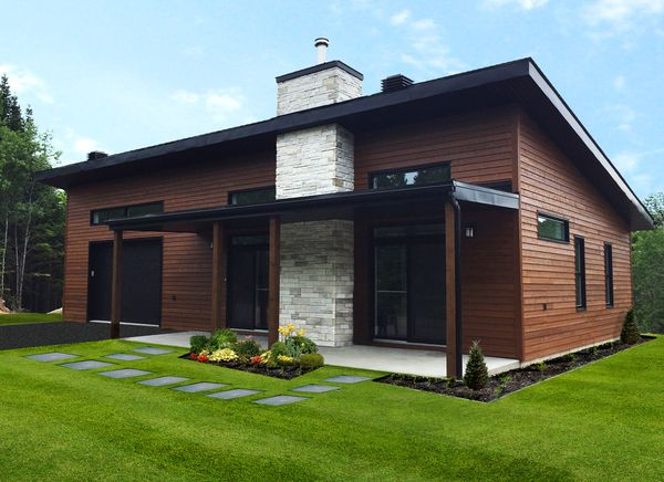 Plan No 149091 House Plans By Westhomeplanners Com Small Modern Cabin Contemporary House Plans Modern Style House Plans