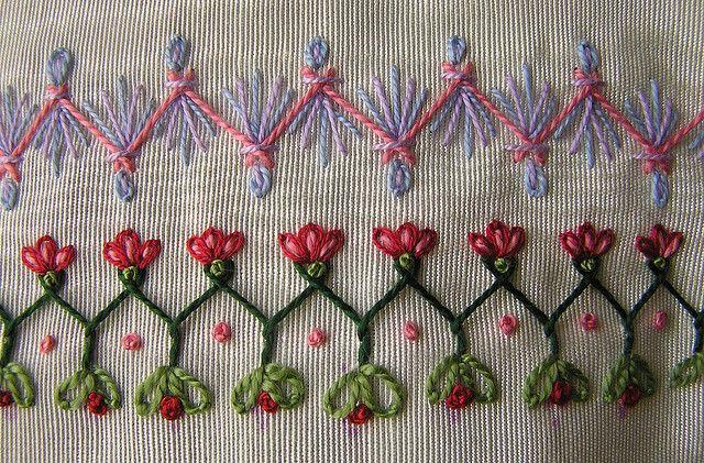 I ❤ embroidery . . . herringbone and cretan by Lin Moon
