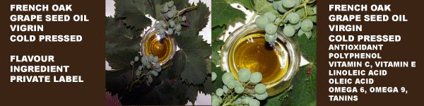 Cold Pressed Grape Seed Oil infused with French Oak