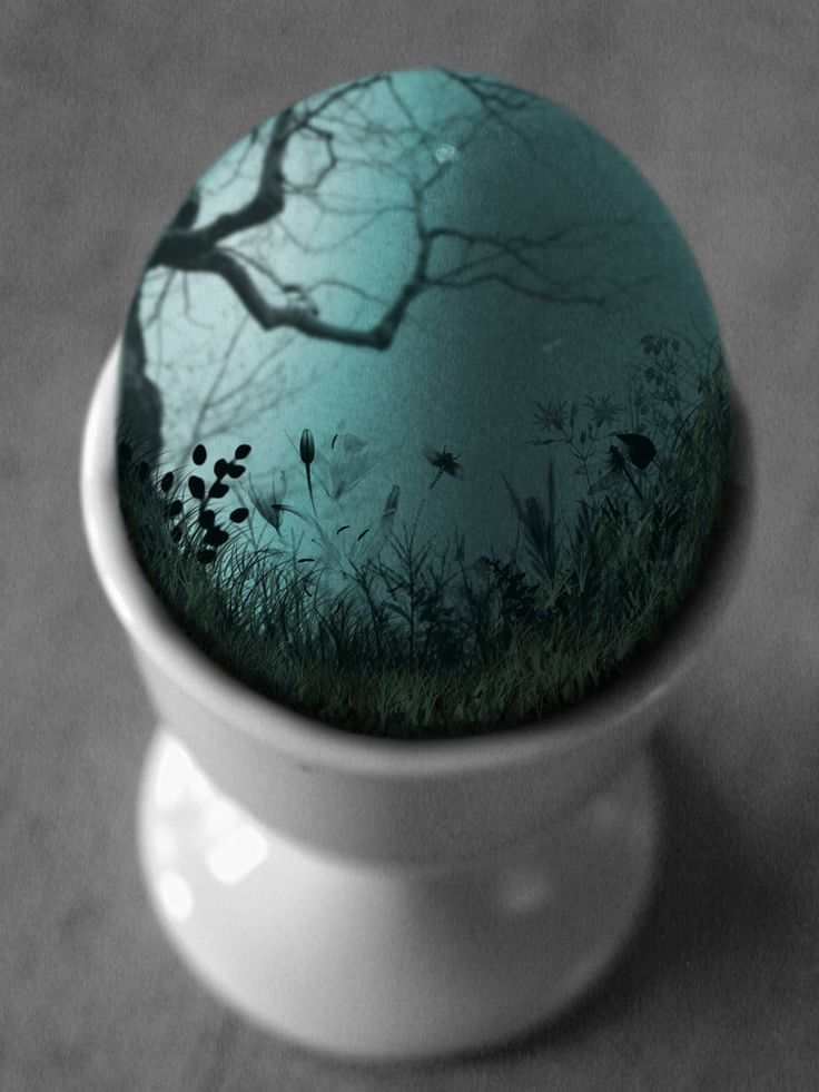 we used to paint eggs for easter for the easter tree