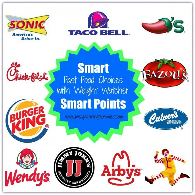 Smart Points Fast Food Choices 10 SmartPoints or Less Meal Planning Mommies http://simple-nourished-living.com/2016/01/smart-smartpoints-fast-food-choices-for-weight-watchers-10-points-less/ #weightwatchers #smartpoints