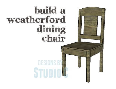 DIY Plans to Build a Weatherford Dining Chair I've said it many times before – chairs are so easy to construct and this chair is no exception! Need extra seating for the upcoming holida…