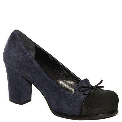 #Decolletè #EmanuelaPasseri in camoscio bicolor blu e nero http://www.tentazioneshop.it/scarpe-emanuela-passeri/decollete-4465-blu-emanuela-passeri.html