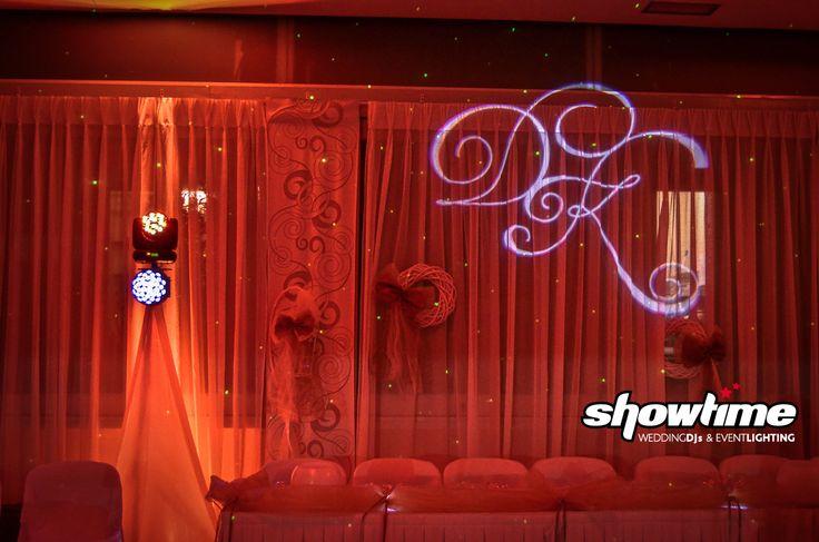 Uplighing & wedding gobo projection