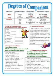 English worksheet: Degrees of Comparison