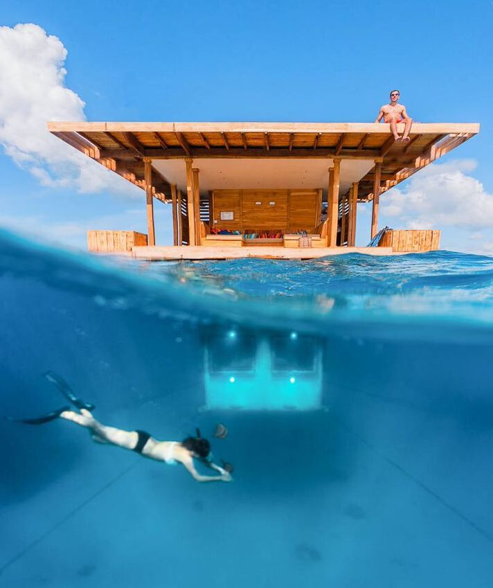 Pemba Island, Tanzania, was quickly made famous when The Manta Resort installed a unique floating room with an underwater bedroom. Timbuktu Travel.