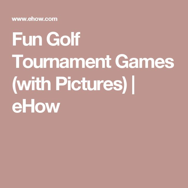 Fun Golf Tournament Games (with Pictures)   eHow