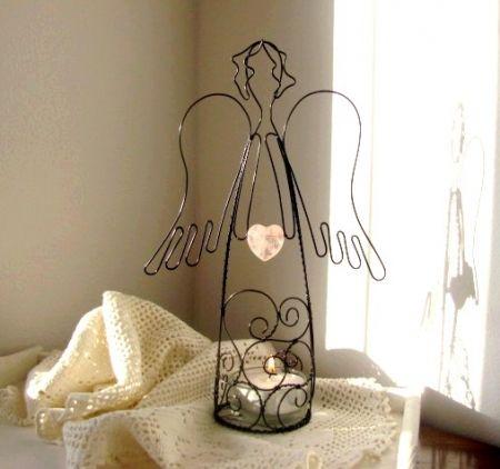 anděl s růženínem