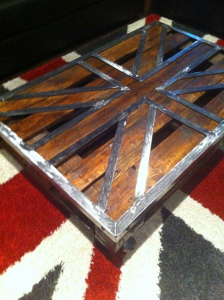 Table basse palette Union Jack