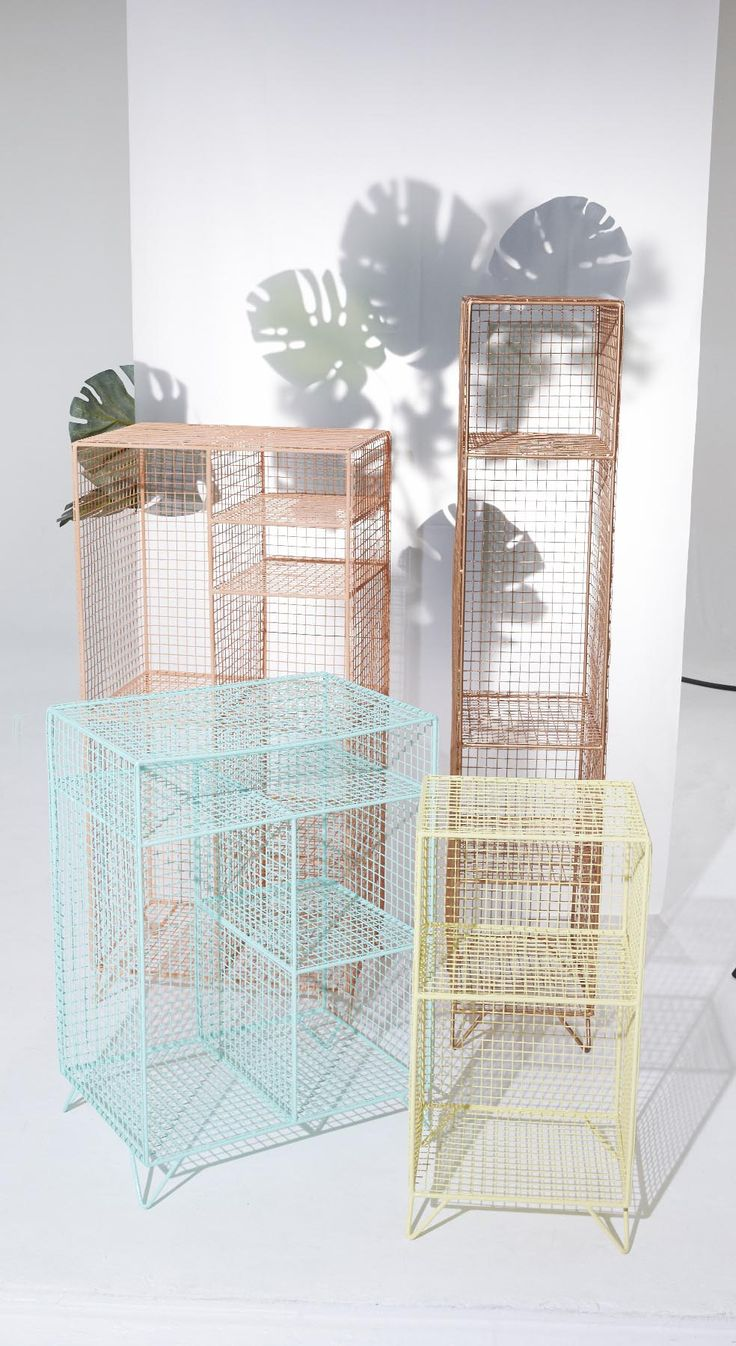 Who says storage has to be boring? Showcase your belongings in our industrial style Duck Egg Grid Four Shelf Mix Match Storage Unit.